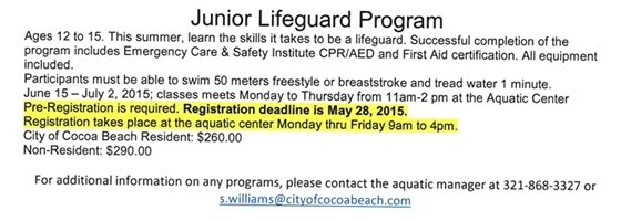 Aquatic Summer Programs